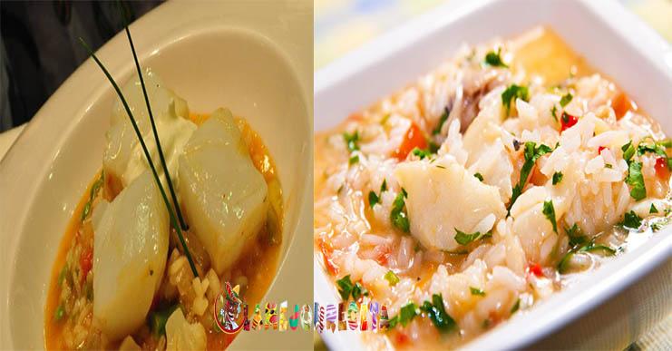 Arroz de bacalao con verduras