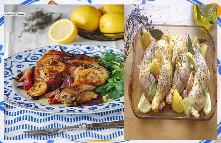 Cómo se hace el pollo al horno con limón