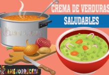 Cremas de verduras saludables