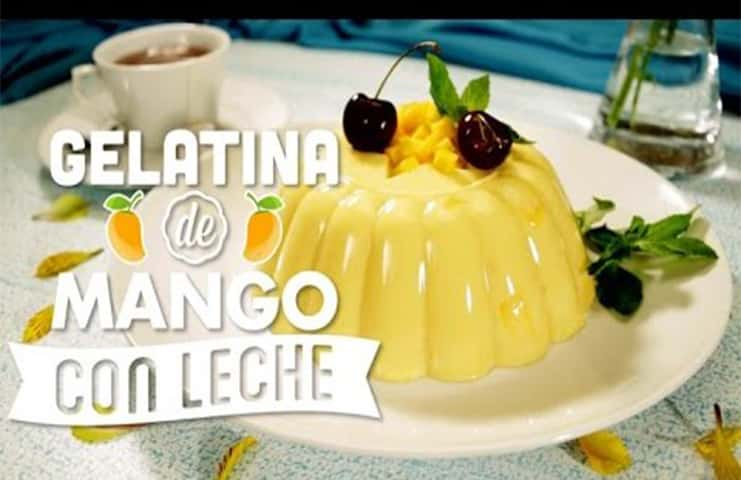 Gelatina de mango menta
