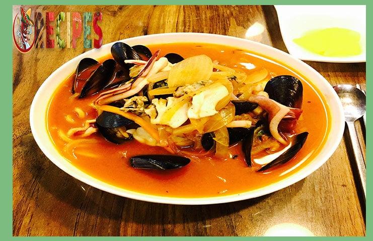 Sopa de pescado y marisco