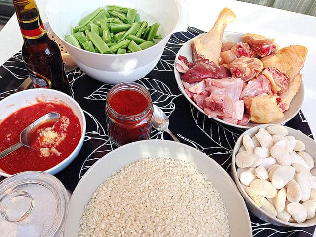 ingredientes de paella valenciana