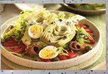 Ensalada de alcachofas con pimientos
