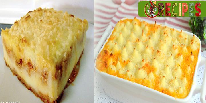 Pastel de puré de patata con carne