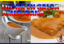 Receta de Locha en salsa americana