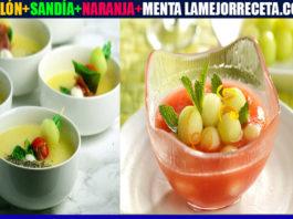 Receta de Gazpacho de sandía y melón