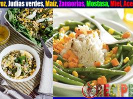 Receta de Judías verdes con arroz y maíz