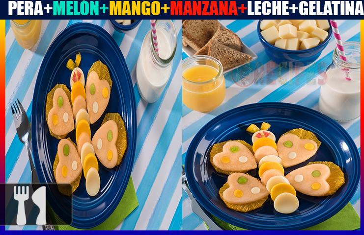 Receta de gelatina de mariposa para niño
