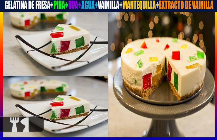 Receta de pastel de gelatina mosaico
