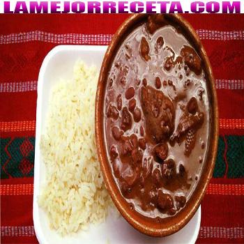 Frijoles con chicharron guatemalaa