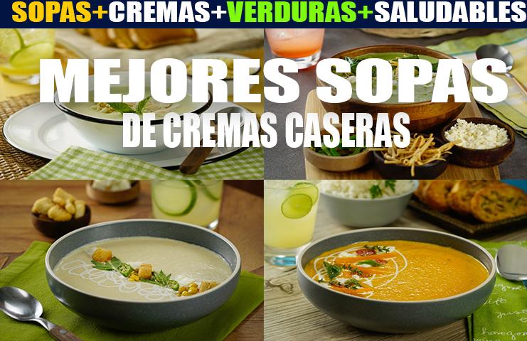 Mejores recetas de sopas y cremas caseras