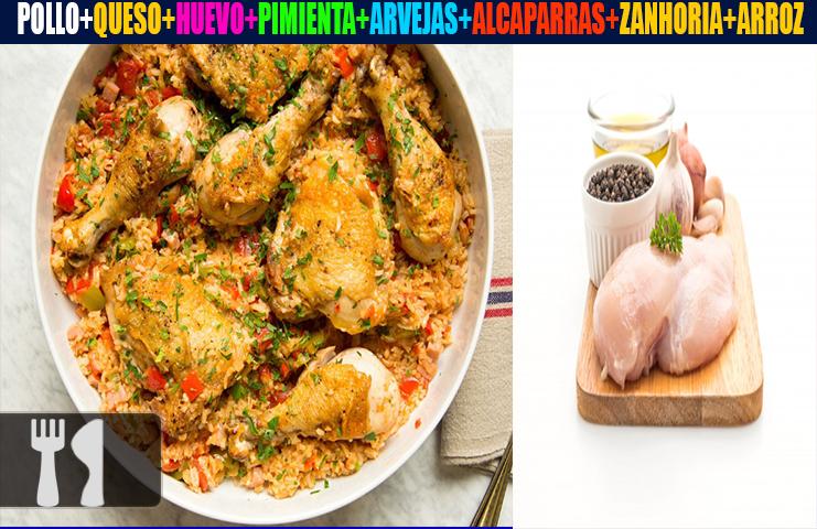 Receta casera de arroz con pollo guatemalteco