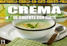 Receta de crema de chayote con elote