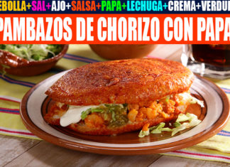 Receta de pambazos mexicanos de papa con chorizo