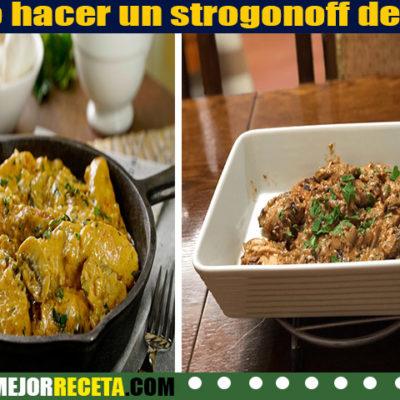 Como hacer un strogonoff de pollo