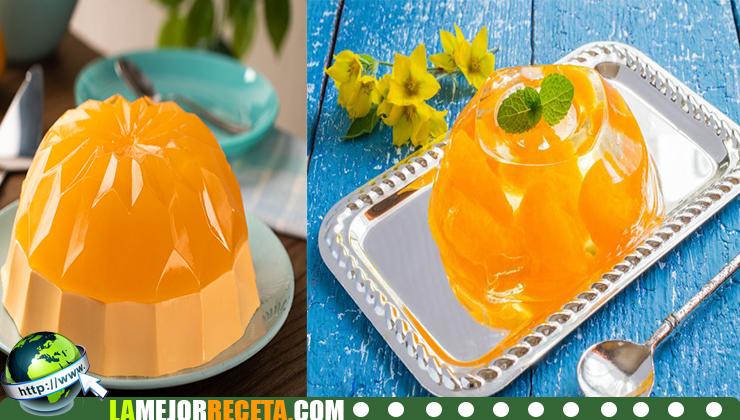 Cómo hacer Gelatina de Naranja con Mandarina