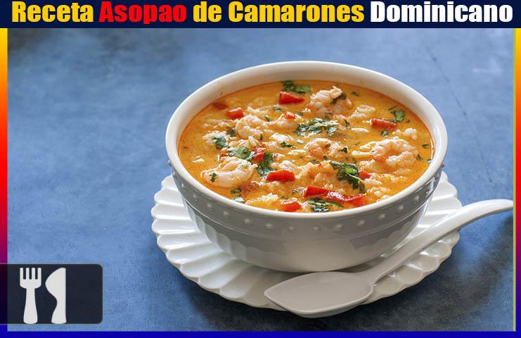 Receta Asopao de Camarones Dominicano