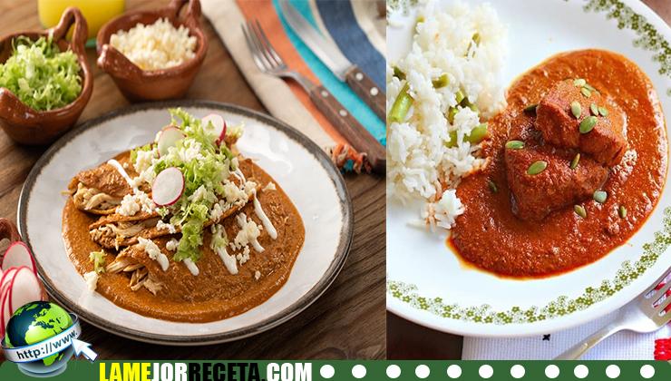 Cómo hacer una Enchilada de pipián rojo