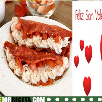 Crepes de terciopelo rojo para San Valentín