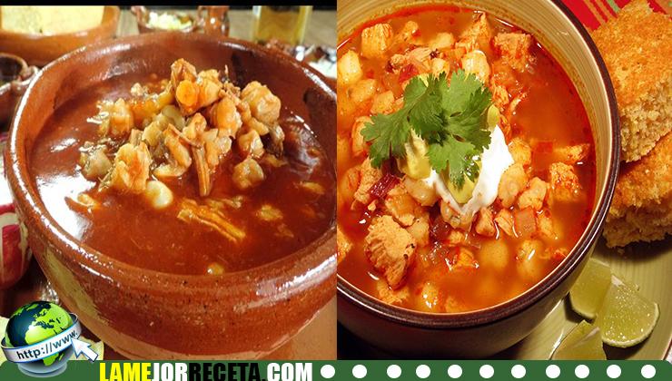 Preparacion de Sopa Mexicana de pollo picante con hominy