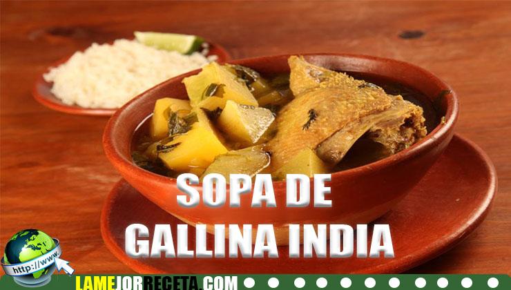como hacer sopa de gallina india hondureña